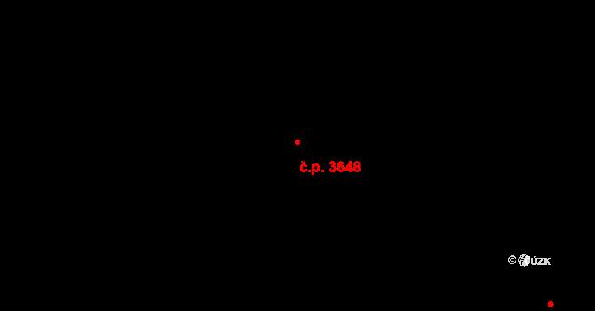 Frýdek 3648, Frýdek-Místek na parcele st. 5504/3 v KÚ Frýdek, Katastrální mapa