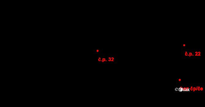 Sázava 32, Davle na parcele st. 43 v KÚ Sázava u Davle, Katastrální mapa