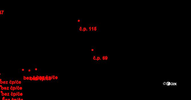 Díly 69 na parcele st. 206 v KÚ Díly, Katastrální mapa