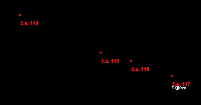 Svinary 115, Hradec Králové na parcele st. 355/13 v KÚ Svinary, Katastrální mapa