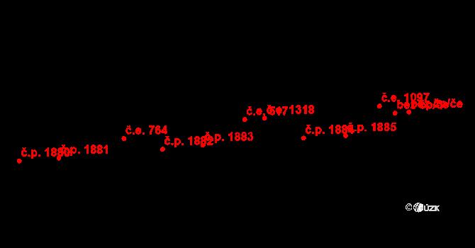 Aš 517 na parcele st. 3769 v KÚ Aš, Katastrální mapa