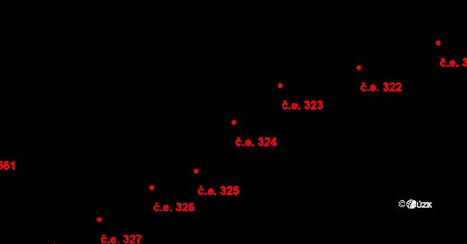Lety 324 na parcele st. 1453 v KÚ Lety u Dobřichovic, Katastrální mapa
