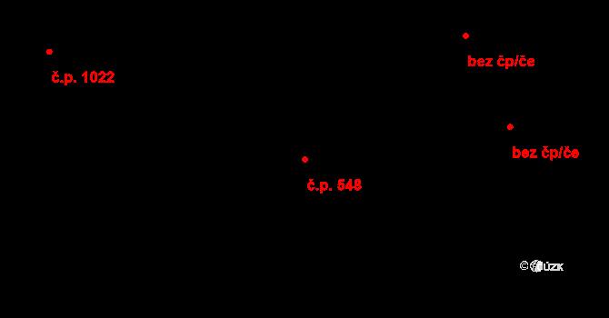 Veveří 548, Brno na parcele st. 1401/1 v KÚ Veveří, Katastrální mapa