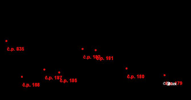 Hostinné 181 na parcele st. 145 v KÚ Hostinné, Katastrální mapa