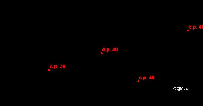 Stupava 40 na parcele st. 10 v KÚ Stupava, Katastrální mapa