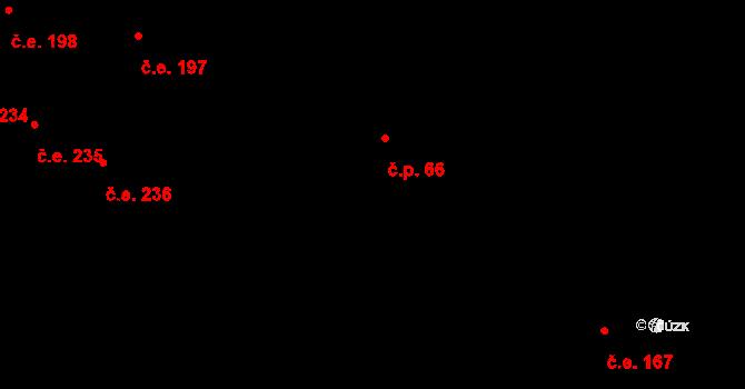 Český Šternberk 66 na parcele st. 227 v KÚ Český Šternberk, Katastrální mapa