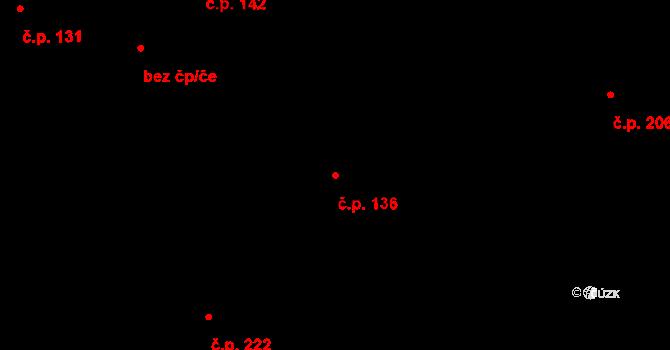 Studánka 136 na parcele st. 171 v KÚ Studánka u Tachova, Katastrální mapa