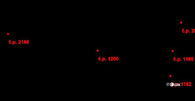 Vinohrady 1200, Praha na parcele st. 1928 v KÚ Vinohrady, Katastrální mapa