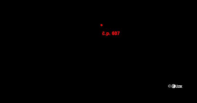 Troja 607, Praha na parcele st. 1306/11 v KÚ Troja, Katastrální mapa