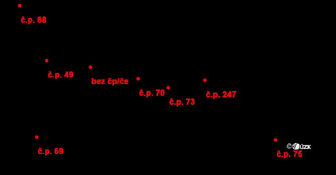 Dolejší Předměstí 73, Domažlice na parcele st. 677 v KÚ Domažlice, Katastrální mapa
