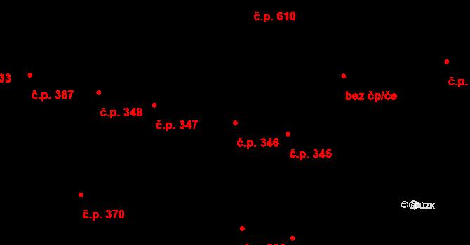 Litovel 346 na parcele st. 748 v KÚ Litovel, Katastrální mapa