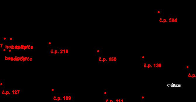 Liberec VII-Horní Růžodol 150, Liberec na parcele st. 134/1 v KÚ Horní Růžodol, Katastrální mapa