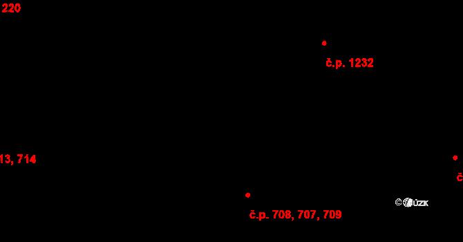 Malenovice 707,708,709, Zlín na parcele st. 992 v KÚ Malenovice u Zlína, Katastrální mapa