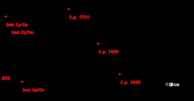 Švermov 1699, Kladno na parcele st. 1152 v KÚ Hnidousy, Katastrální mapa