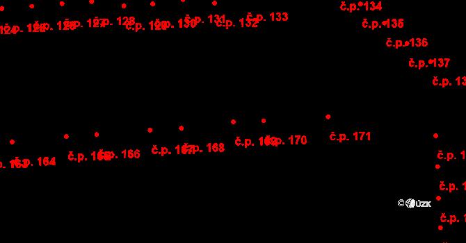 Doubravice 169, Pardubice na parcele st. 1314 v KÚ Semtín, Katastrální mapa