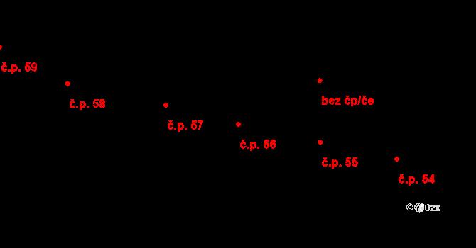 Staré Hory 56, Jihlava na parcele st. 73 v KÚ Staré Hory, Katastrální mapa