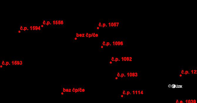 Aš 1096 na parcele st. 1242 v KÚ Aš, Katastrální mapa