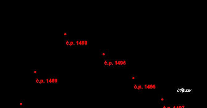 Holešovice 1495, Praha na parcele st. 612/5 v KÚ Holešovice, Katastrální mapa