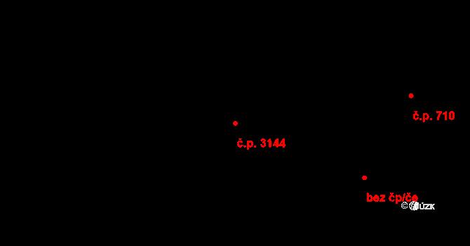 Varnsdorf 3144 na parcele st. 4359 v KÚ Varnsdorf, Katastrální mapa