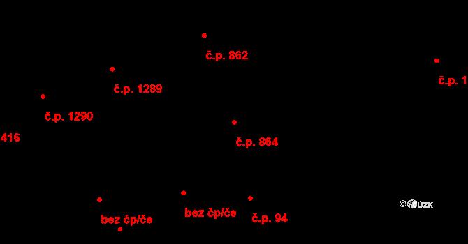 Holešovice 864, Praha na parcele st. 656 v KÚ Holešovice, Katastrální mapa
