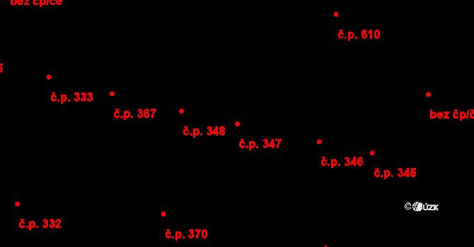 Litovel 347 na parcele st. 763 v KÚ Litovel, Katastrální mapa