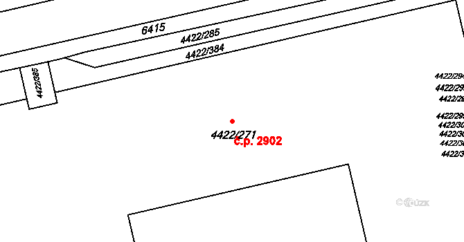 Líšeň 2902, Brno na parcele st. 4422/271 v KÚ Líšeň, Katastrální mapa