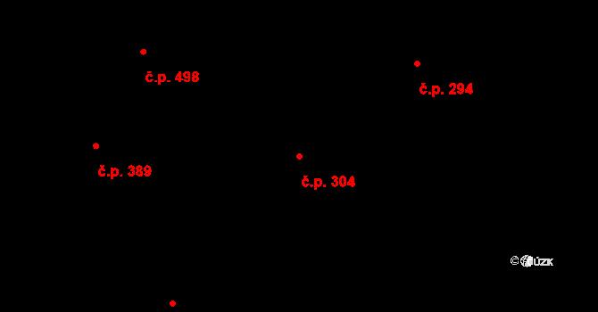 Chrast 304 na parcele st. 338 v KÚ Chrast, Katastrální mapa