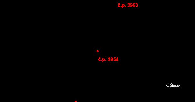 Havlíčkův Brod 3954 na parcele st. 7542 v KÚ Havlíčkův Brod, Katastrální mapa