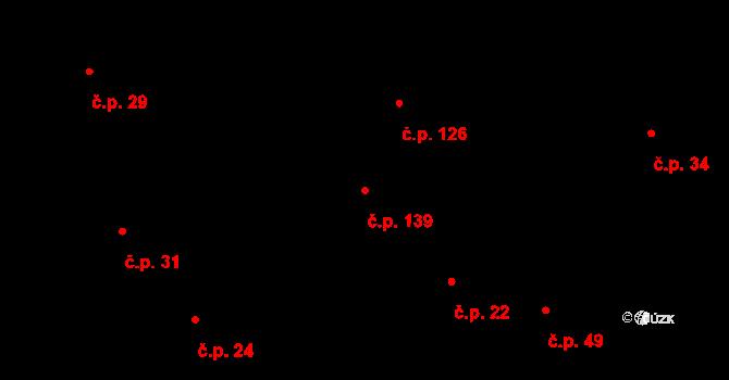 Lípa 139 na parcele st. 60 v KÚ Lípa nad Dřevnicí, Katastrální mapa