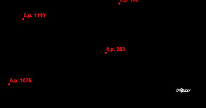 Nivnice 283 na parcele st. 2016/4 v KÚ Nivnice, Katastrální mapa