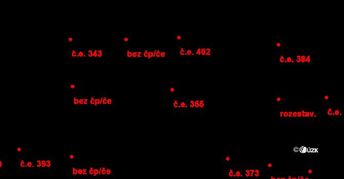 Hloubětín 355, Praha na parcele st. 1351/5 v KÚ Hloubětín, Katastrální mapa