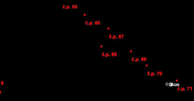 Nová Říše 68 na parcele st. 101/1 v KÚ Nová Říše, Katastrální mapa