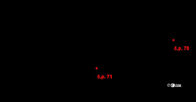 Dolní Počernice 71, Praha na parcele st. 218 v KÚ Dolní Počernice, Katastrální mapa