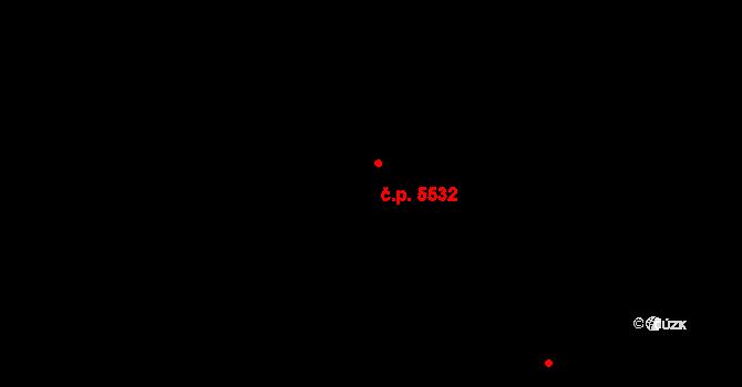 Zlín 5532 na parcele st. 8705/1 v KÚ Zlín, Katastrální mapa