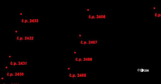 Brandýs nad Labem 2407, Brandýs nad Labem-Stará Boleslav na parcele st. 3418 v KÚ Brandýs nad Labem, Katastrální mapa