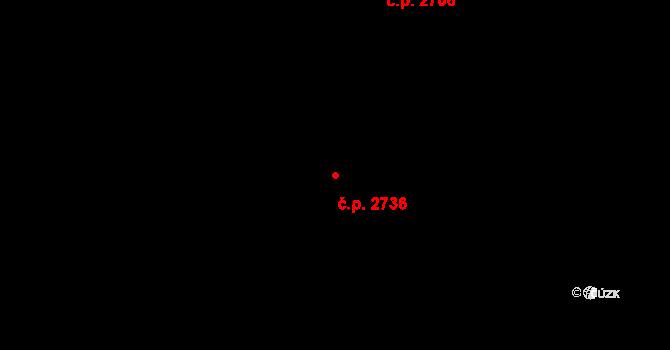 Aš 2736 na parcele st. 4506 v KÚ Aš, Katastrální mapa