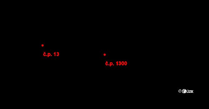 Litovel 1300 na parcele st. 2827 v KÚ Litovel, Katastrální mapa