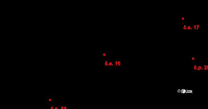 Návsí 16 na parcele st. 4596 v KÚ Návsí, Katastrální mapa