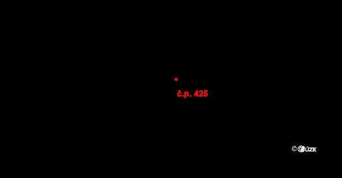 Michle 425, Praha na parcele st. 473 v KÚ Michle, Katastrální mapa