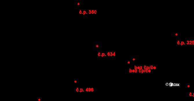 Liberec XI-Růžodol I 634, Liberec na parcele st. 1145/2 v KÚ Růžodol I, Katastrální mapa