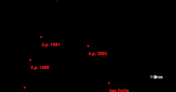 Jižní Předměstí 2993, Plzeň na parcele st. 6292/4 v KÚ Plzeň, Katastrální mapa