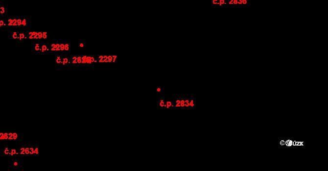 České Budějovice 5 2834, České Budějovice na parcele st. 627/49 v KÚ České Budějovice 5, Katastrální mapa