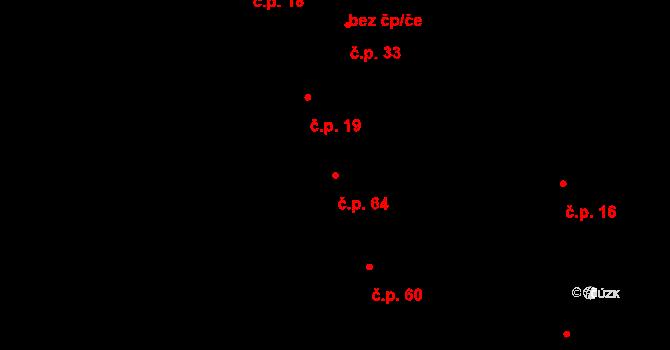 Vrchoslavice 64 na parcele st. 346 v KÚ Vrchoslavice, Katastrální mapa
