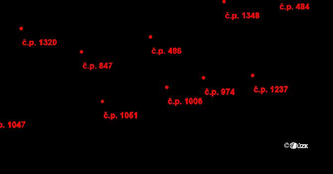 Vracov 1006 na parcele st. 3162 v KÚ Vracov, Katastrální mapa