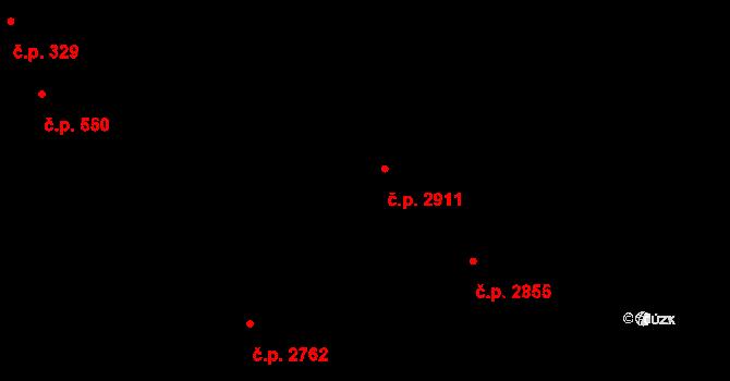 Aš 2911 na parcele st. 426 v KÚ Aš, Katastrální mapa