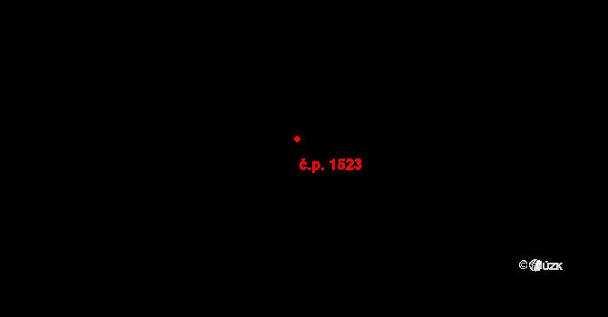 Chodov 1523, Praha na parcele st. 3161/1 v KÚ Chodov, Katastrální mapa
