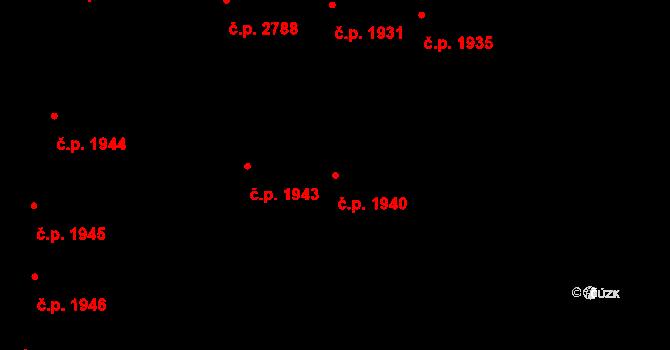 České Budějovice 3 1940, České Budějovice na parcele st. 4562 v KÚ České Budějovice 3, Katastrální mapa