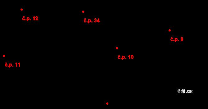 Bojanovice 10 na parcele st. 38 v KÚ Bojanovice, Katastrální mapa