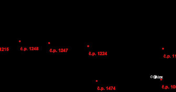 Žižkov 1224, Praha na parcele st. 1383 v KÚ Žižkov, Katastrální mapa
