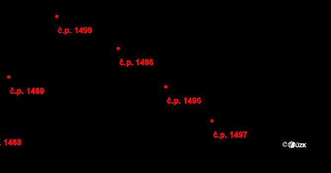 Holešovice 1496, Praha na parcele st. 612/6 v KÚ Holešovice, Katastrální mapa